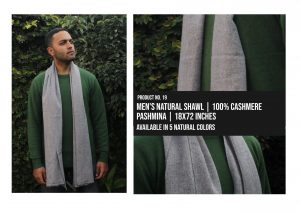 Mens Natural Shawl