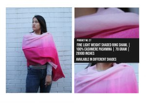 Fine Light Weight Shaded Ring Shawl