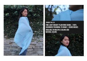 Fine Light Weight Shaded Plane Shawl