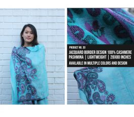 Jacquard Border Design Shawl