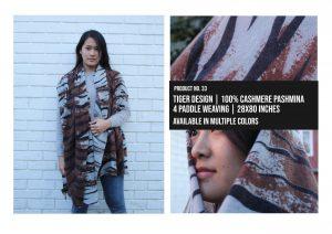 Tiger Design Shawl 100% Cashmere Pashmina Multiple colors