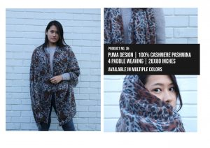 Puma Design Shawl 100% Cashmere Pashmina Multiple colors
