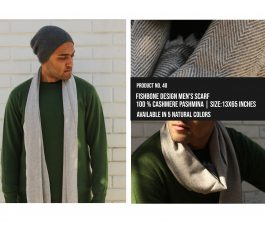 Fishbone design Mens Scarf