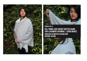 Full Fringe Light Weight Knitted Shawl