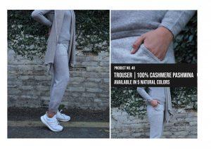 Trouser 100% Cashmere Pashmina Multiple colors